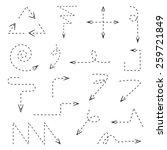 dash line arrows  hand drawn... | Shutterstock .eps vector #259721849