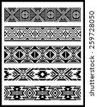 navajo aztec border vector... | Shutterstock .eps vector #259728050