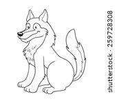 Раскраски волк - 1