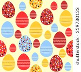seamless pattern with painted... | Shutterstock . vector #259730123