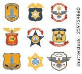 police badges law enforcement... | Shutterstock .eps vector #259734860