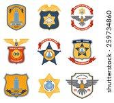 police badges law enforcement... | Shutterstock .eps vector #259734860
