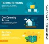 public cloud protected data... | Shutterstock .eps vector #259736993