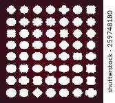 vector large set of blank... | Shutterstock .eps vector #259748180