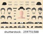 big vector set of dress up... | Shutterstock .eps vector #259751588