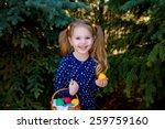 Beautiful Little Girl Child In...