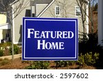 Featured Home - stock photo