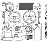 car parts. automotive themed... | Shutterstock .eps vector #259760273