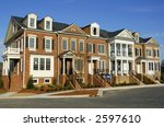 Luxury Townhome Construction - stock photo