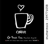 hand drawn cafe poster...   Shutterstock .eps vector #259771058