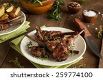 Small photo of Organic Grilled Lamb Chops with Garlic and Lime