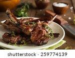 Organic Grilled Lamb Chops Wit...