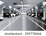 underground parking with cars....   Shutterstock .eps vector #259778366