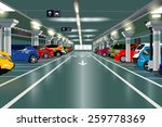 underground parking with cars....   Shutterstock .eps vector #259778369