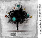 grungy textures and design... | Shutterstock .eps vector #259787633