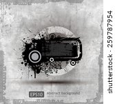 grungy textures and design... | Shutterstock .eps vector #259787954