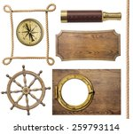 Nautical Objects Rope  Compass...