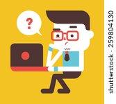 character illustration design.... | Shutterstock .eps vector #259804130