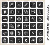 medical icons set illustration... | Shutterstock .eps vector #259806158