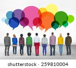 casual people message talking... | Shutterstock . vector #259810004