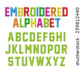 embroidered alphabet. vector. | Shutterstock .eps vector #259812440