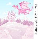 Illustration Of Magic Dragon On ...