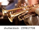 pipes in the hands of musicians | Shutterstock . vector #259817708