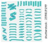 big huge biggest green set of... | Shutterstock .eps vector #259819199