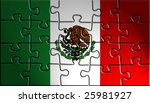 flag of mexico  national... | Shutterstock . vector #25981927