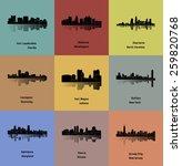 set of 9 city   buffalo  fort... | Shutterstock .eps vector #259820768