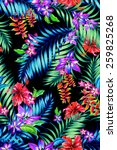 seamless colorful tropical...   Shutterstock . vector #259825268