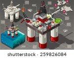 isometric oil infographic gas... | Shutterstock .eps vector #259826084