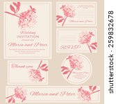 wedding invitations set ... | Shutterstock .eps vector #259832678