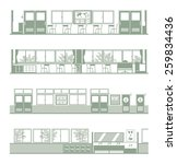 landscape of various schools   Shutterstock .eps vector #259834436