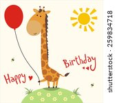 Happy Birthday   Vector Card...