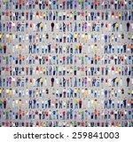 multiethnic casual people... | Shutterstock . vector #259841003