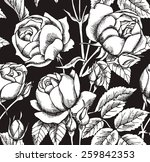 seamless pattern rose real... | Shutterstock .eps vector #259842353