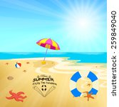 time summer enjoy the sunshine | Shutterstock . vector #259849040