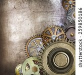 metallic gears background | Shutterstock . vector #259850186