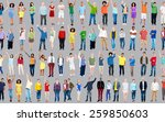 multiethnic casual people... | Shutterstock . vector #259850603