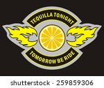 biker patch | Shutterstock .eps vector #259859306