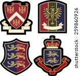 classic heraldic royal emblem... | Shutterstock .eps vector #259860926