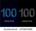 100  number  modern wave  font  ... | Shutterstock .eps vector #259869080