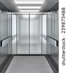 modern elevator with opened door | Shutterstock . vector #259875488