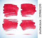 brushstroke banners.  ink red... | Shutterstock .eps vector #259882190