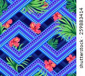 Seamless Tropical Pattern On A...