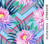 seamless vector aztec tribal... | Shutterstock .eps vector #259883648
