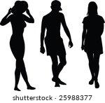 beach silhouette   vector | Shutterstock .eps vector #25988377