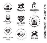 gift shop and souvenirs logo...   Shutterstock .eps vector #259884578