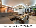 interior of a luxury  | Shutterstock . vector #259884620